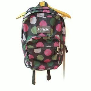 Jansport trans Backpack Black Polka Dotted